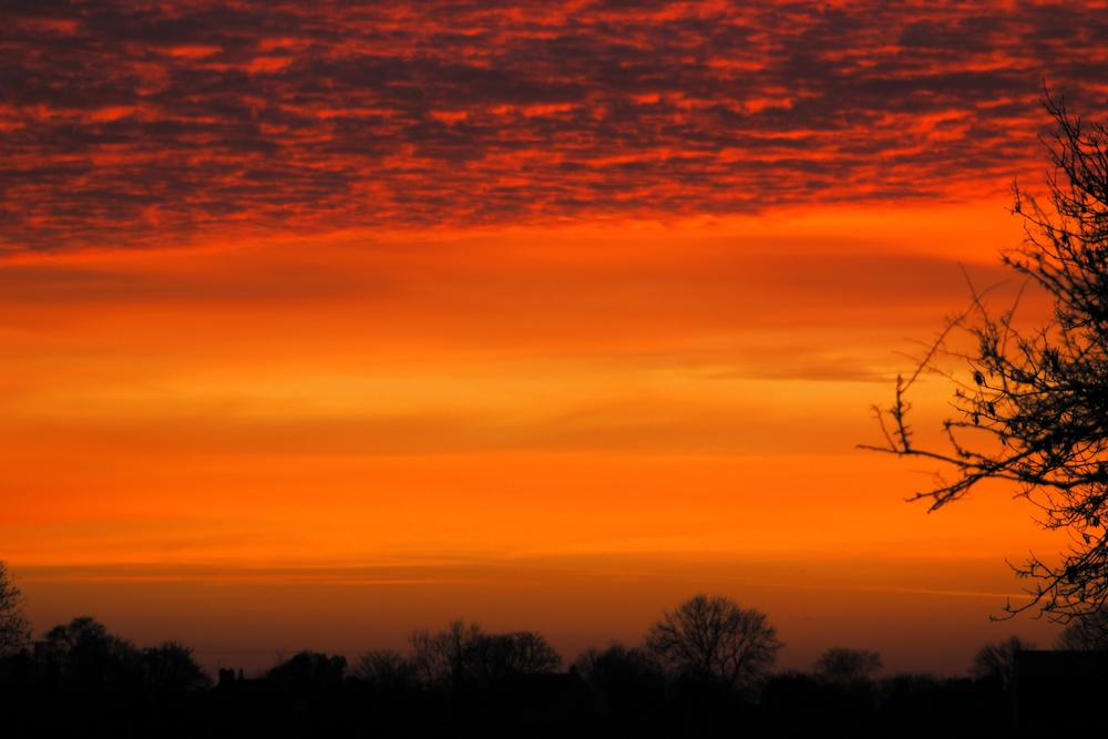 Photo in Landscape #nature #sky #night #sunset #red