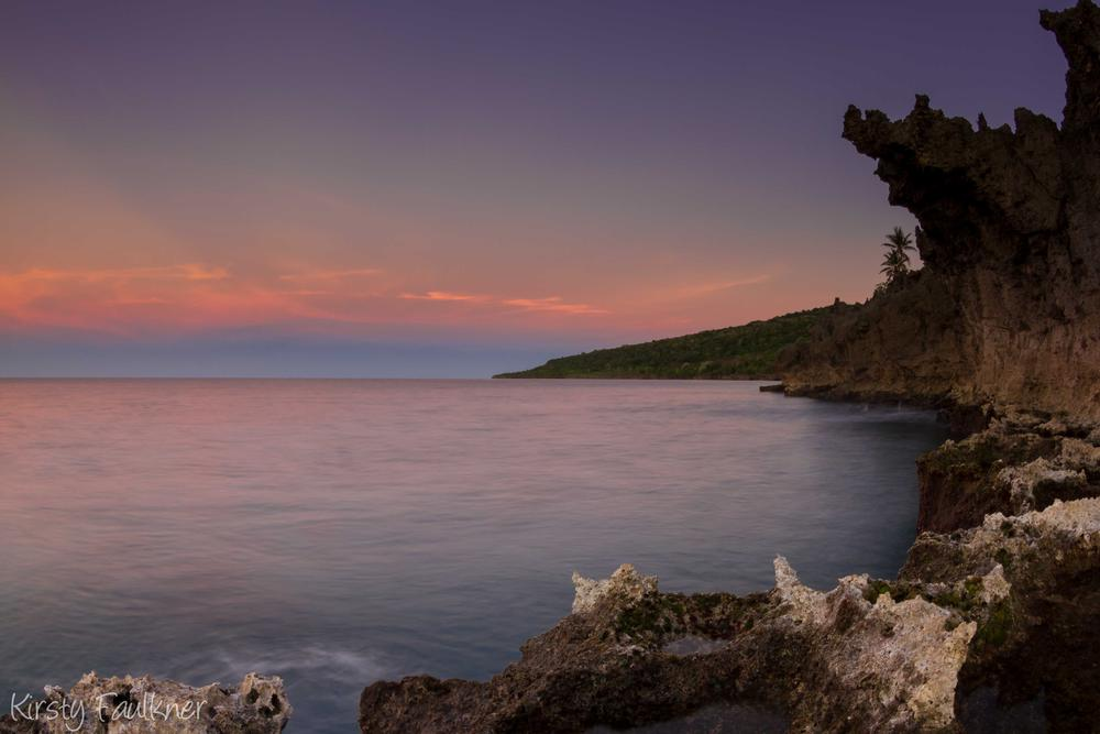 Rocky Point Sunset - Christmas Island by Kirsty Faulkner