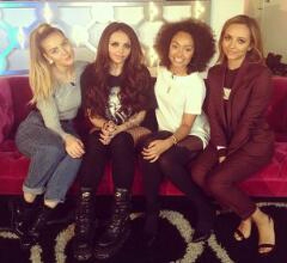 The girls at the MTV studio right now! Mixers HQ x by Perrie Edwards