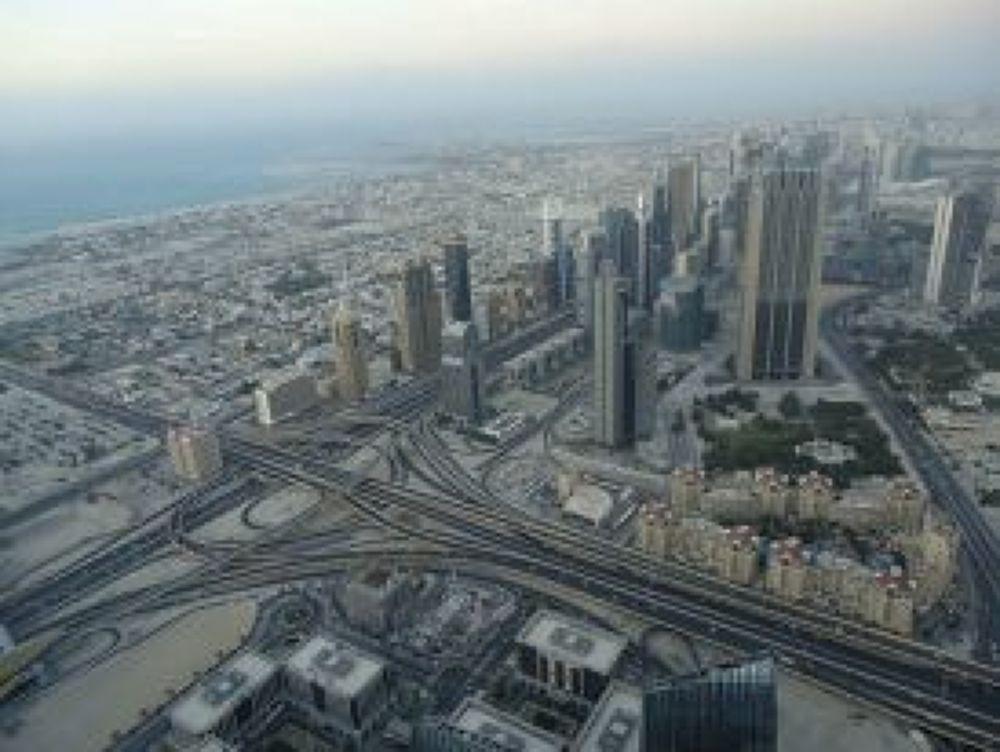 dubai city from top of burj khalifa :) by NEETA