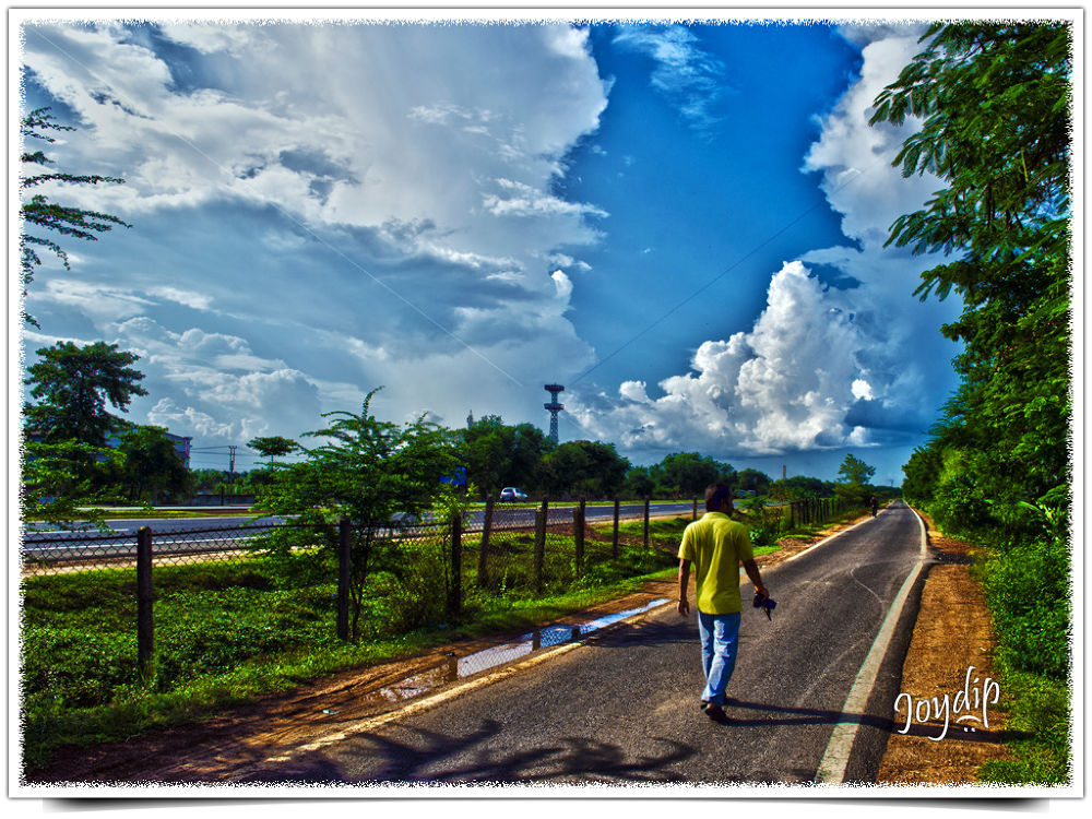 Photo in HDRI #autumn #hdr #clear sky #nature #highway