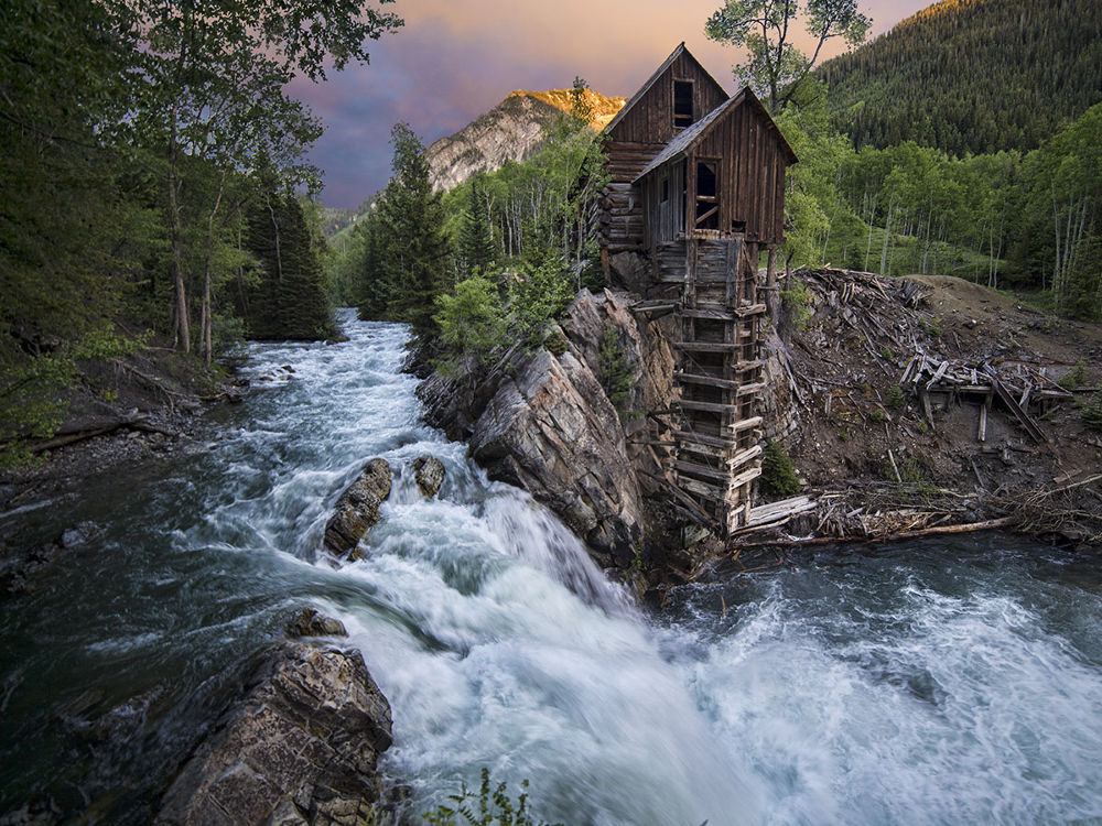 Crystal Mill sunset by James Bradford McGinley