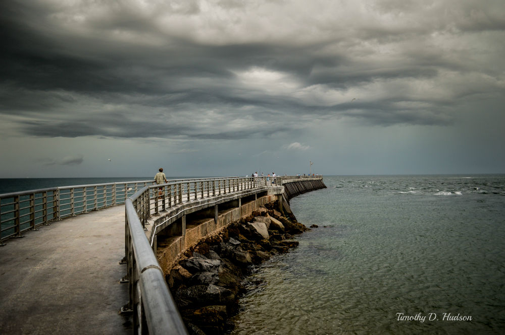Storm over a Florida Pier by Timothy Hudson