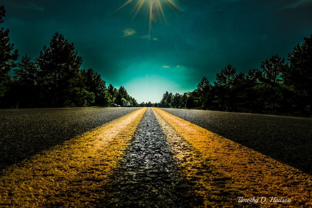 Photo in Random #highway #road #path #tree #colors #sun #light #beautiful