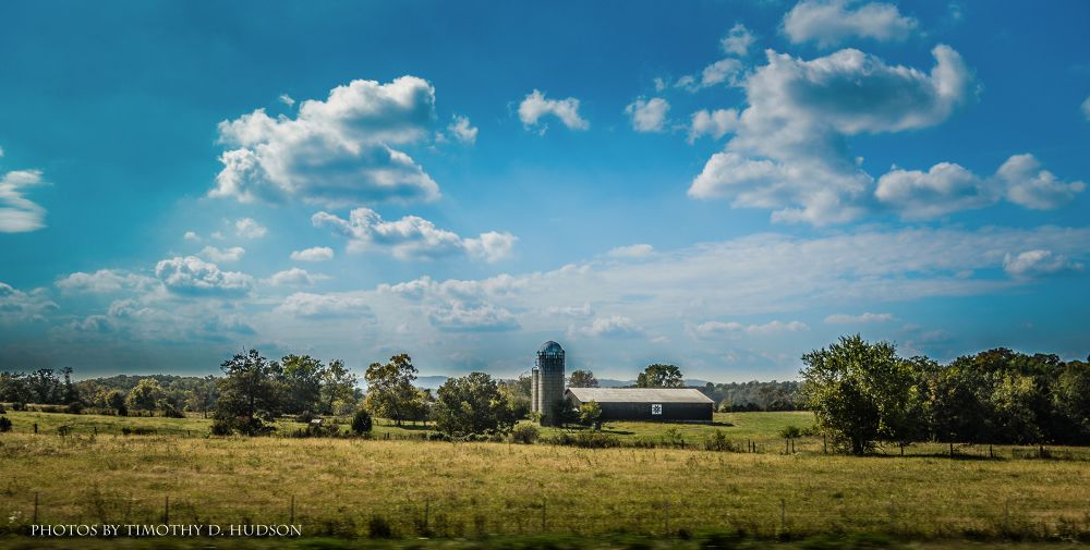 Beautiful view over the farm by Timothy Hudson