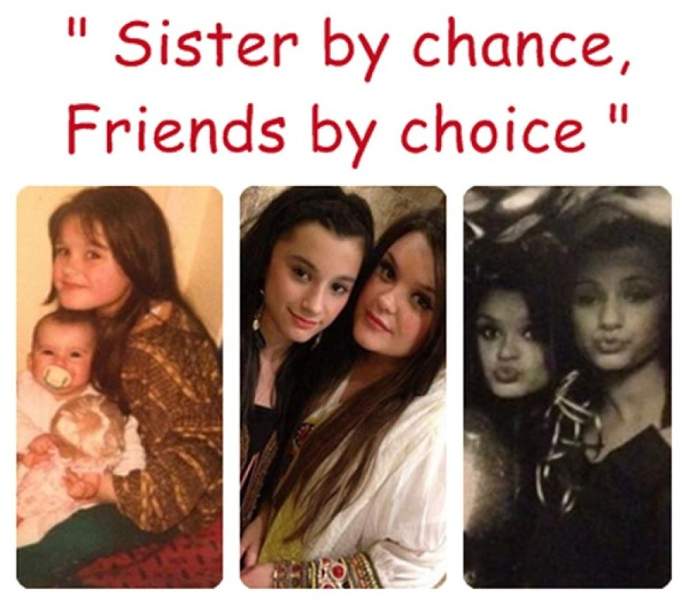"""Sisters by chance, Friends by choice"" ♥ by WaliyhaMalik"