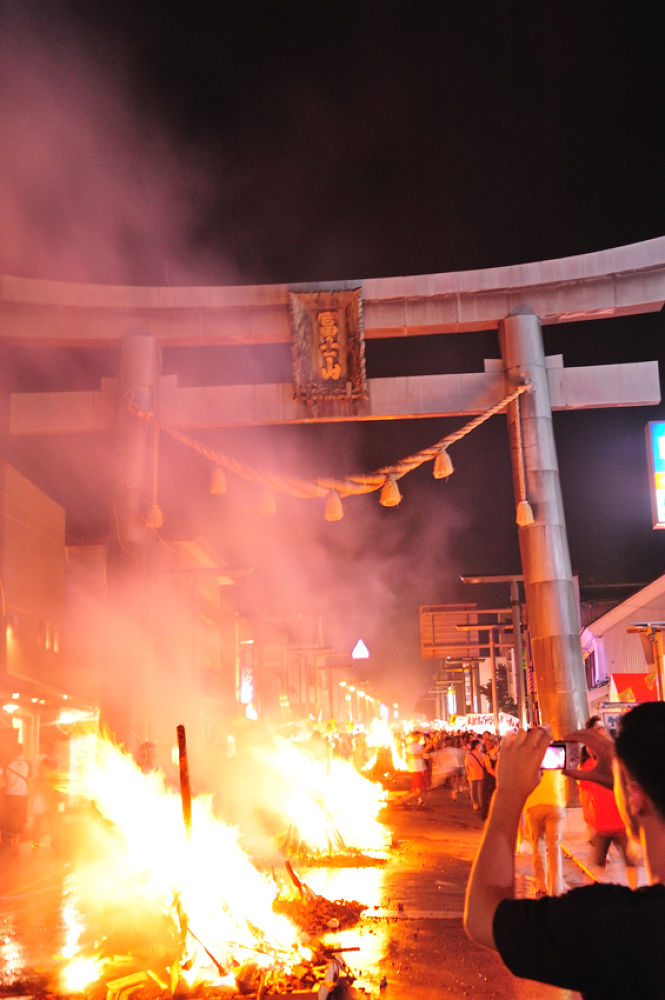 Fire festival at Mt,Fuji. by YoshihitoNakamura