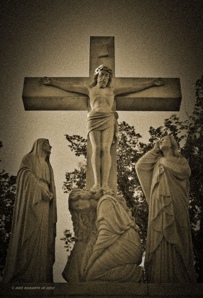 At The Foot Of The Cross III Sepia© by Donald Durante Jr