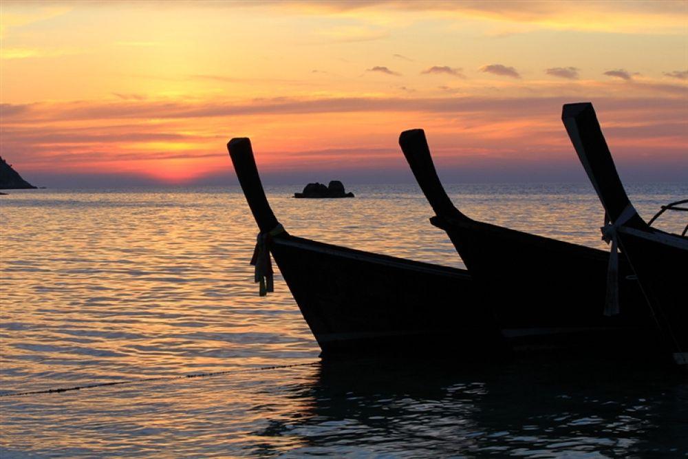 Photo in Random #beach #at #ko #lipe #sunset