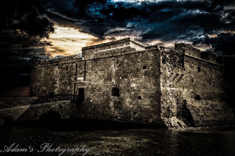 Medieval Castle of Paphos by Adam Nicolaou