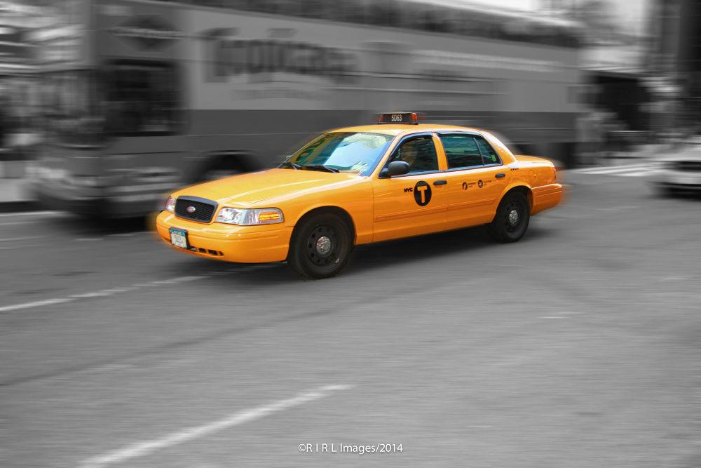 Y E L L O W  C A B/ Times Square by Rical Tan