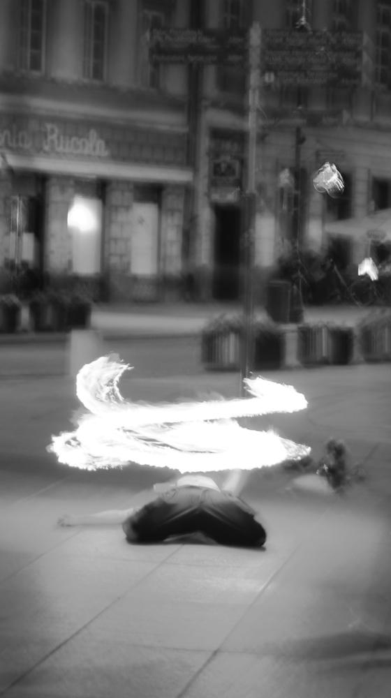 Photo in Random #dance #fire #dance with fire #warsaw #black and white #black&white