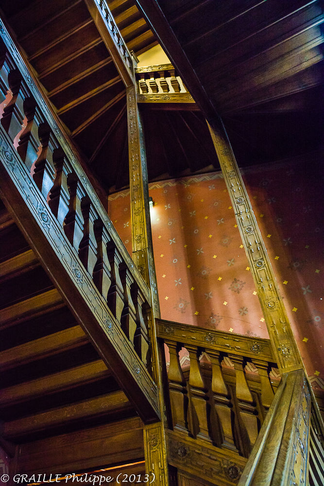 Wooden stairs by Philippe Graille