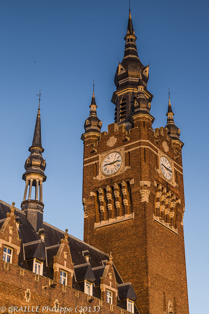 Armentières city hall tower classified in the UNESCO world heritage by Philippe Graille