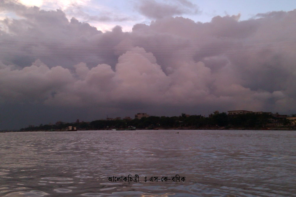 A CLOUDY AFTERNOON AT RIVER SIDE.jpg by ShyamalKBanik