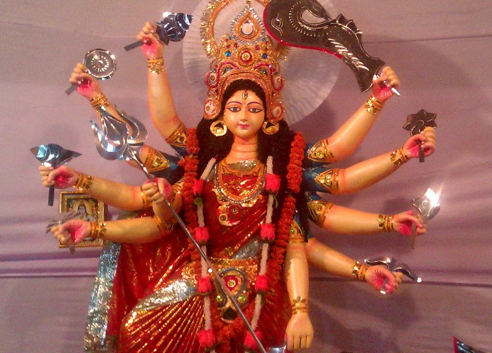 AN IDOL OF GODDESS WHO IS WORSHIPED by ShyamalKBanik