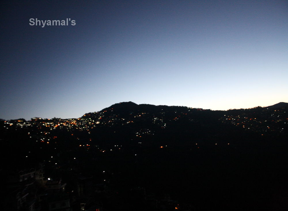 NIGHT VIEW OF A HILLY CITY : ABOVE SO HIGH ABOVE GROUNG.JPG by ShyamalKBanik