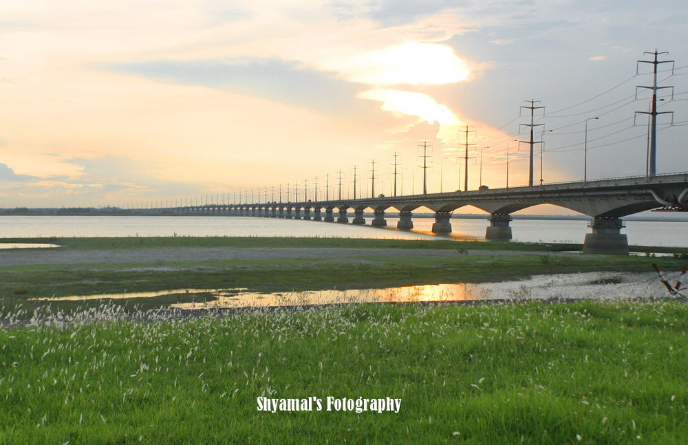 A LONG LENGTH BRIDGE CONNECTING TWO PARTS OF COUNTRY by ShyamalKBanik