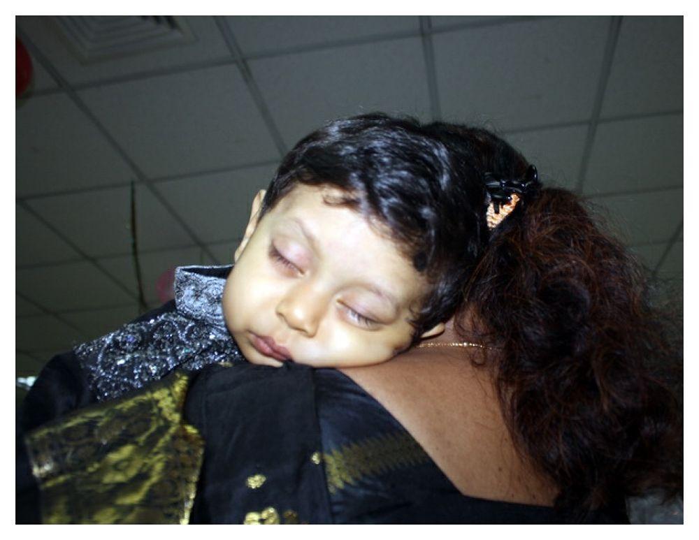 GRANDSON SLEEPING ON....... by ShyamalKBanik