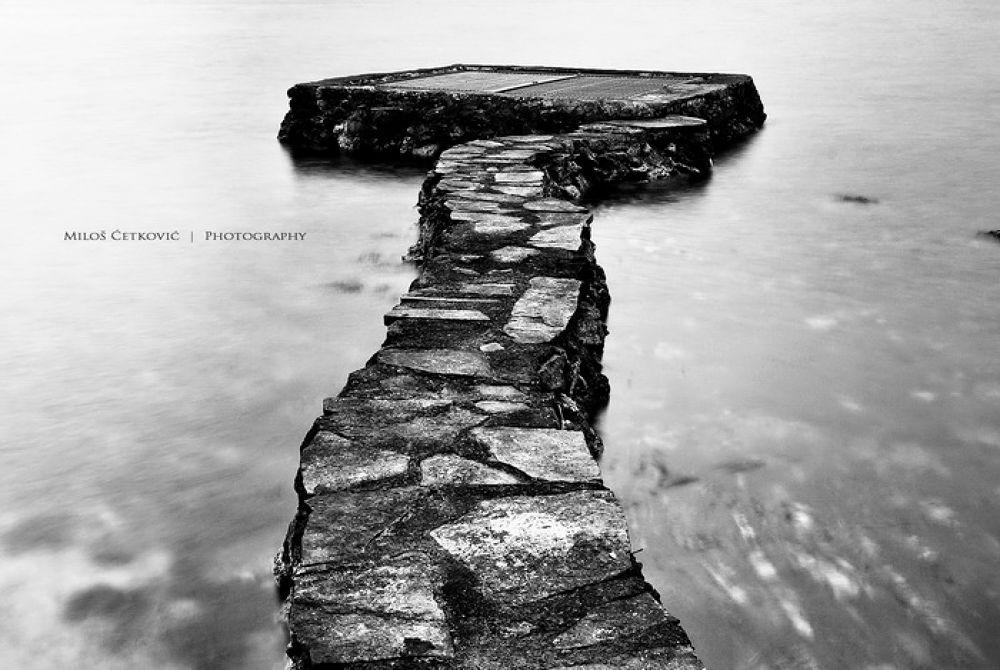 Lonely pier by Milos Cetkovic