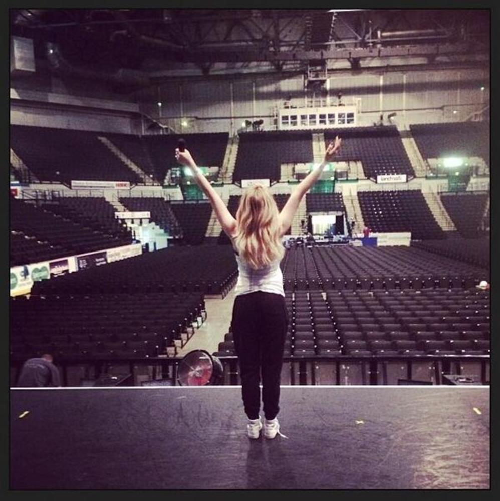 Sheffield arena!  by Perrie Edwards