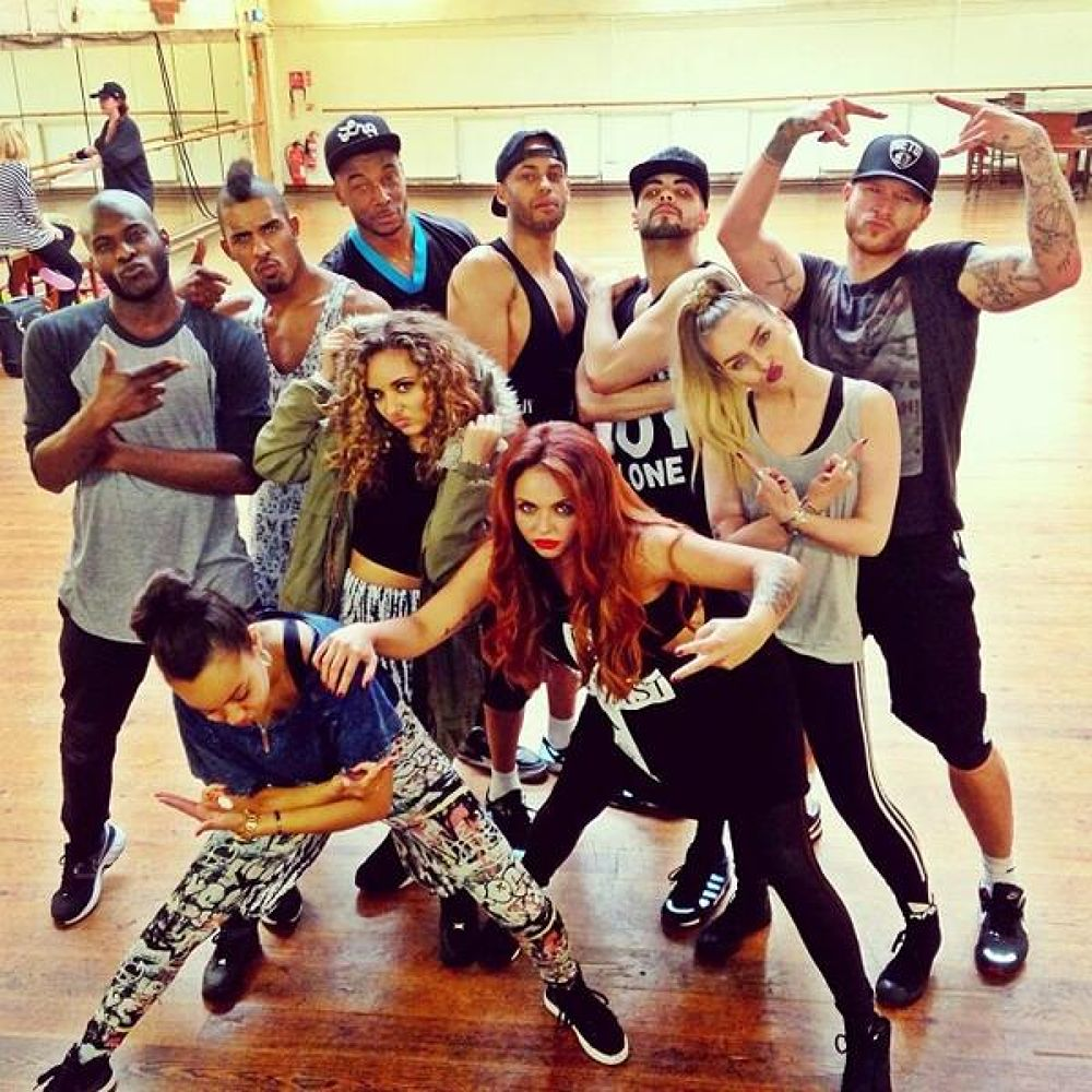 The day has finally come! First day of #SaluteTour rehearsals with our Mix Men! xx Little Mix xx by Little Mix