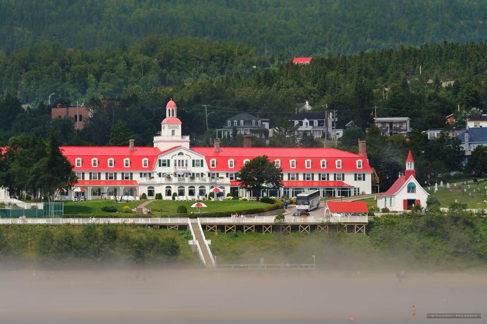Tadoussac Hotel, river Saint-Laurent, Quebec, Canada by Thierry Preusser
