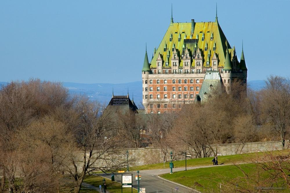 The Frontenac Hotel, viewed from Abraham Plains by Thierry Preusser