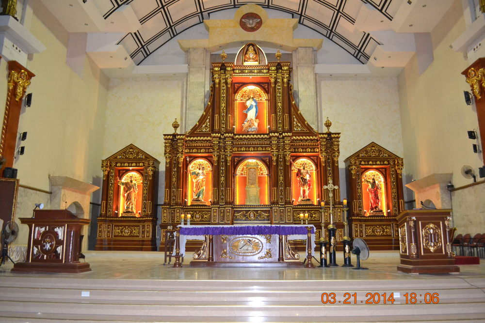 Retablo of the Metropolitan Cathedral of the Immaculate Conception, Archdiocese of Capiz. by Patrick Jay Parce