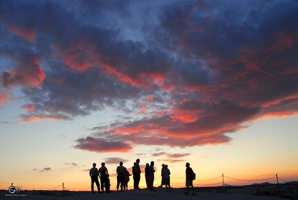 sunset by Galip Hasan Temur