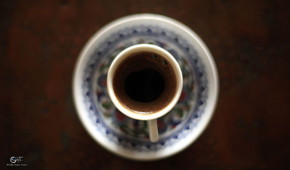 A CUP OF TURKISH COFFEE by Galip Hasan Temur