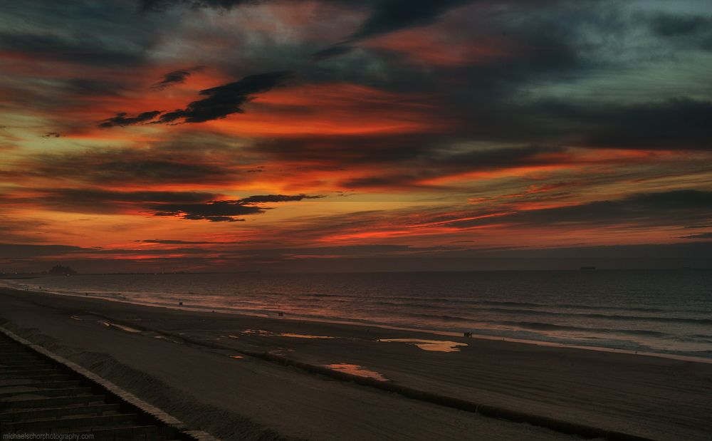Fire before Dawn - Only the birds and one photographer witness the miracle by michaelschorphotography