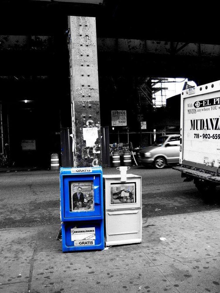 Black & White & Blue , NY by Liborio Drogo