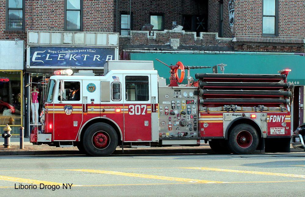 FDNY Jackson Heights NY, by Liborio Drogo