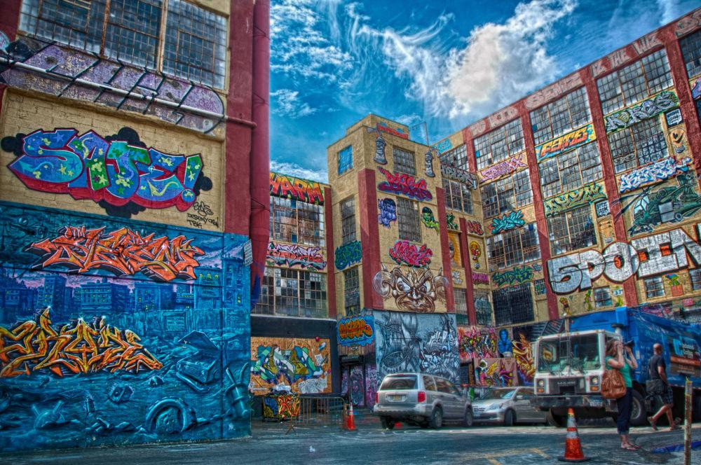 Photo in Random #queens #hdr #graffiti #nyc #new york #ny #5 pointz