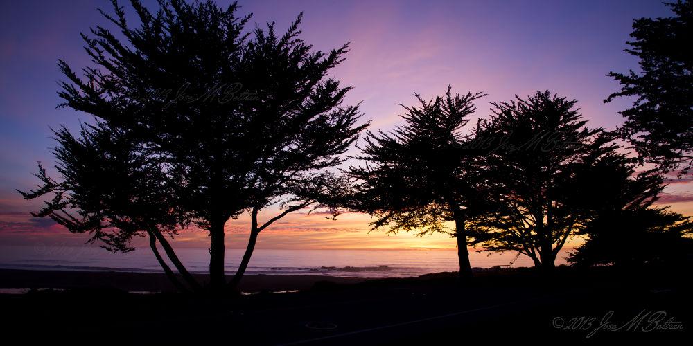 Cambria Sunset by Jose M Beltran