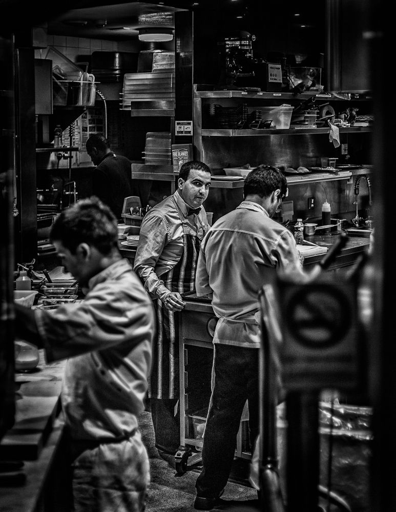 *What are you looking?*In The Kitchen*Mayfair at night, London, UK, 03.2014 by Kalin Kalpachev