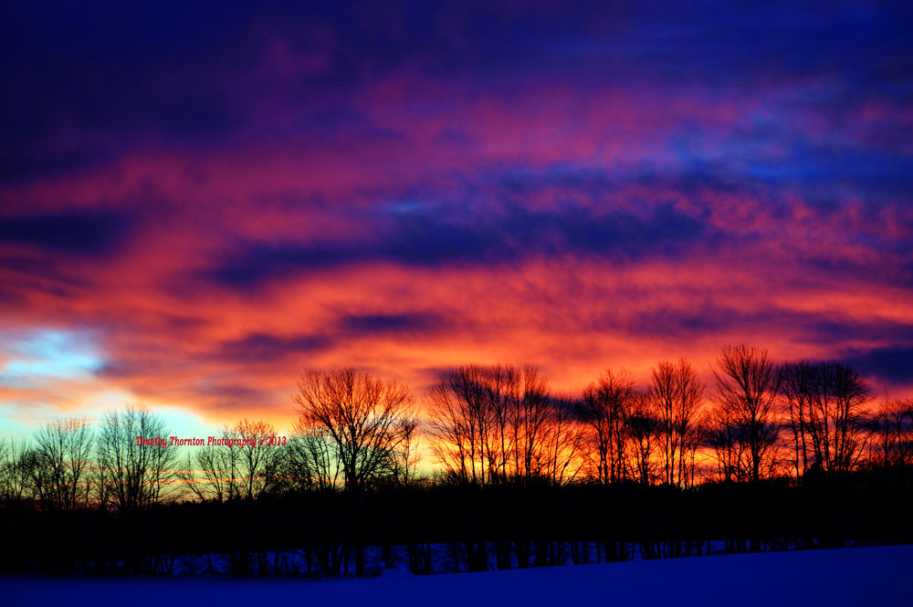 Early Winter Sunrise by Timothy Thornton