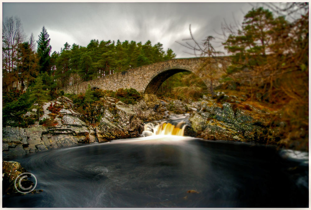 Black water Falls  Garve by John Bird