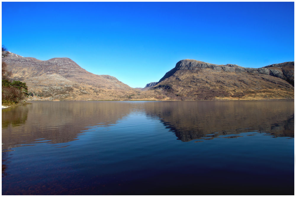 Loch Maree Reflection Scotland by John Bird