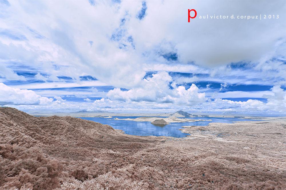 IR Taal Volcano by Paul Corpuz