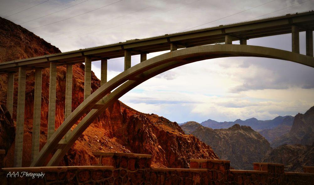 bridge over Hoover Dam by AAA Photography