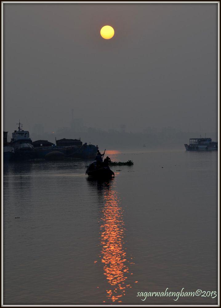 just an evening by Sagar Wahengbam