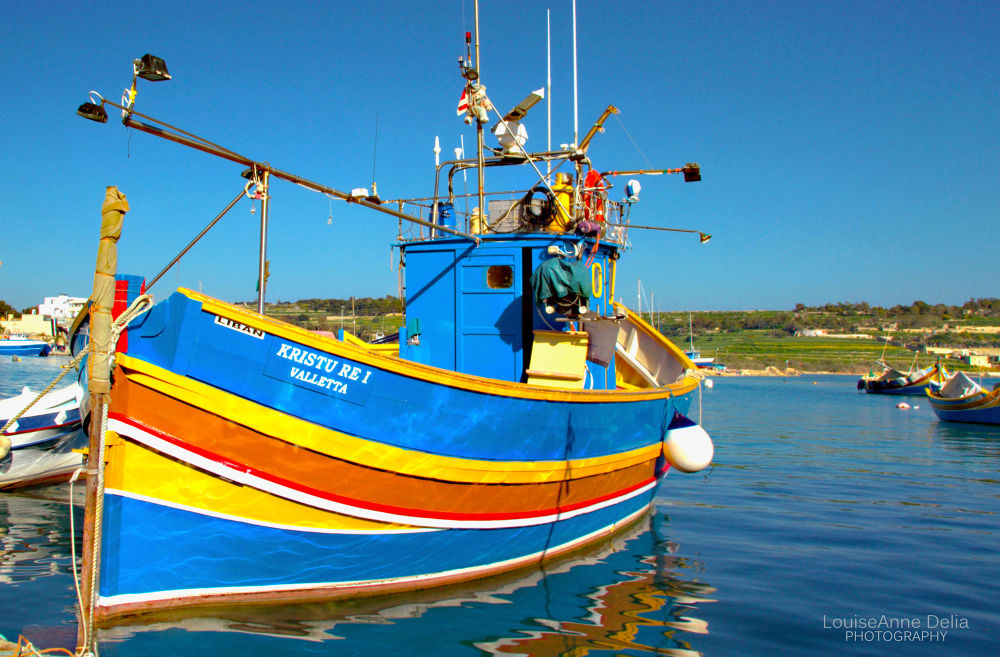 Maltese fishing boat by LouiseAnne Delia