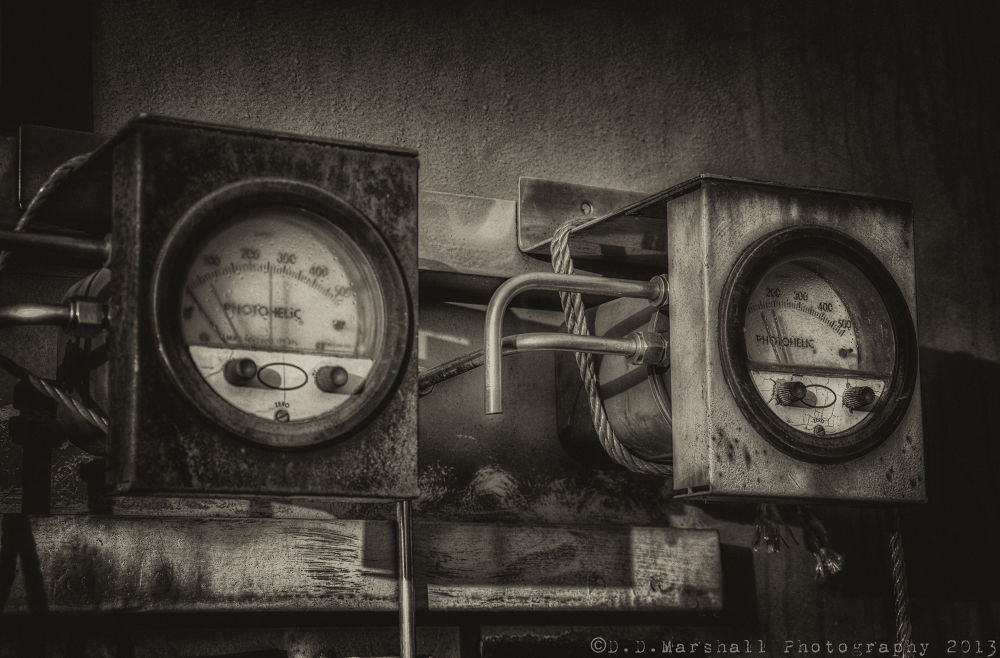 Old Rusty Gauges. by Darren Marshall
