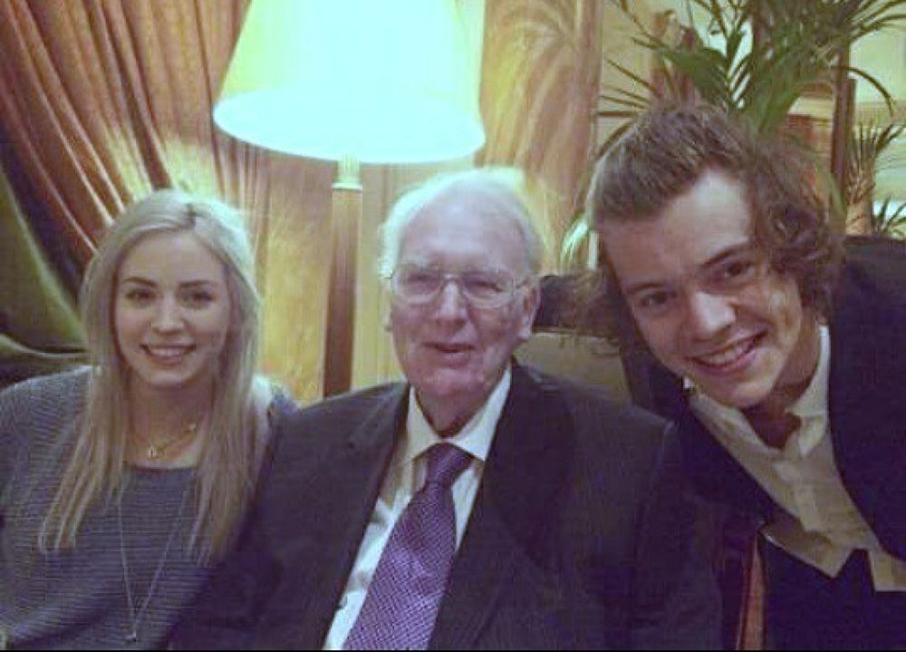 With my sister and my grandpa..x by Harry Styles (✔)