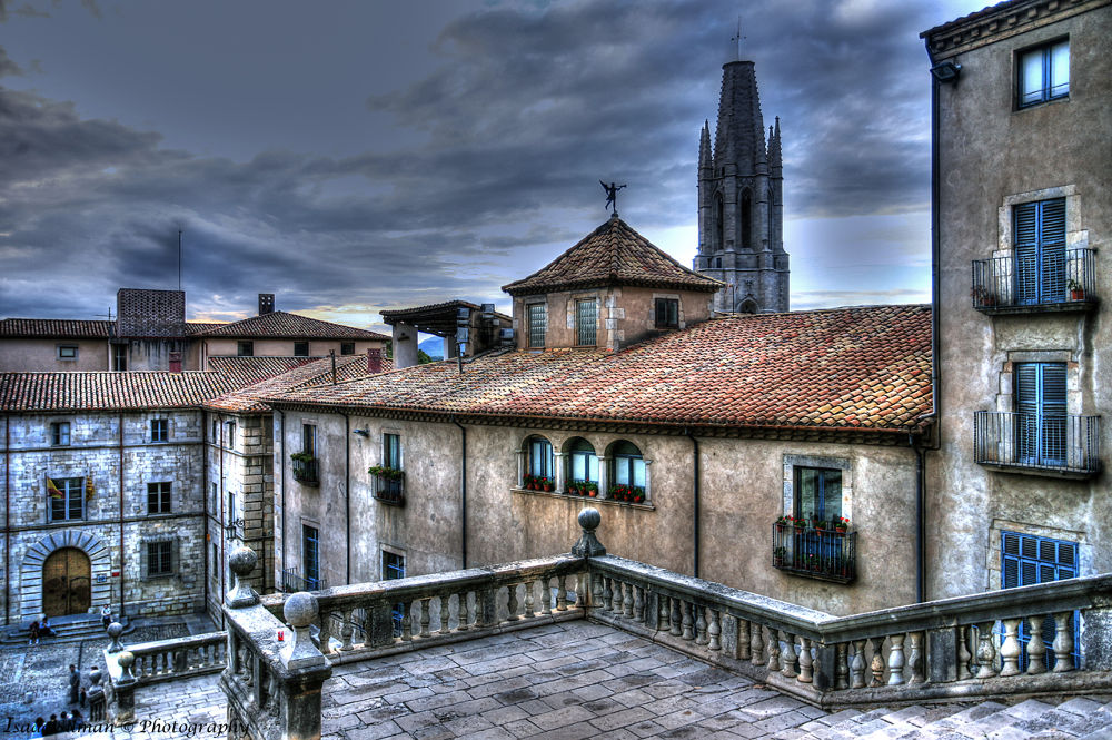 Cathedral Banisters Girona Spain by Isaac Silman