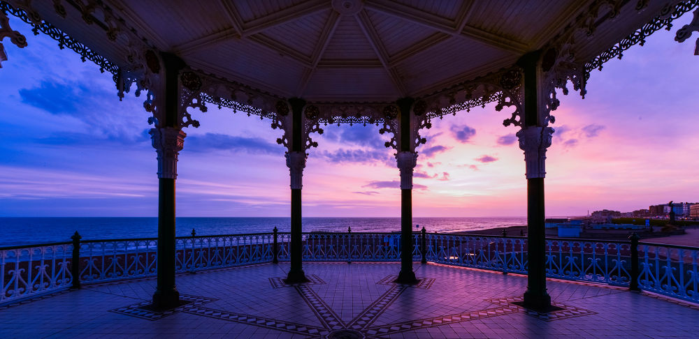 Brighton Bandstand Sunset by Jamie Pryer
