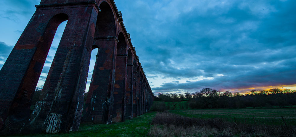 Balcome Viaduct Sunset by Jamie Pryer