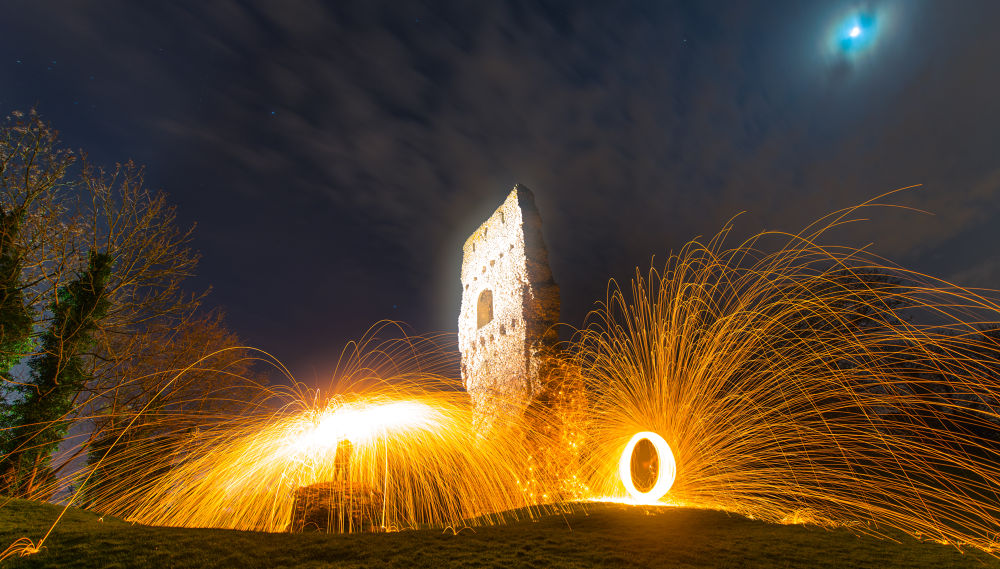Bramber Light Painting by Jamie Pryer